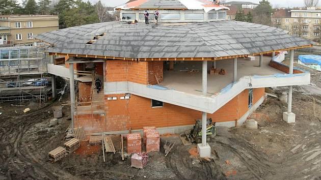 Stavba školní jídelny v Hejčíně