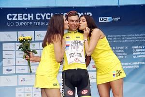 Cyklisté na závodu Czech Cycling Tour absolvovali úvodní týmovou časovku v okolí Uničova. Paweł Cieślik, vedoucí muž celkové klasifikace