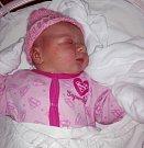 Eliška Damborová, Velká Bystřice, narozena 12. srpna v Olomouci, míra 53 cm, váha 3910 g