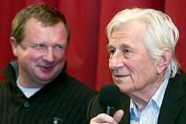 Pavel Vrba, Karel Brückner. Beseda slavných fotbalových trenérů z Hané v kině ve Velkém Týnci