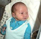 Jindřich Podivínský, Březce, narozen 26. prosince ve Šternberku, míra 50 cm, váha 3540 g