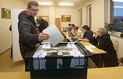 Prezidentské volby v obci Luká na Olomoucku