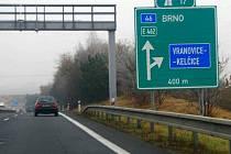 Exit na Vranovice - Kelčice na R46 od Olomouce