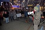 Demonstrace proti Šantovka Tower před krajským úřadem v Olomouci