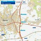 Plánovaný východní obchvat Olomouce