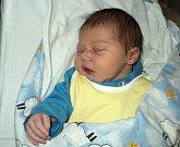 Štěpán Kohoutek, Loštice, narozen 5. února ve Šternberku, míra 51 cm, váha 3930 g