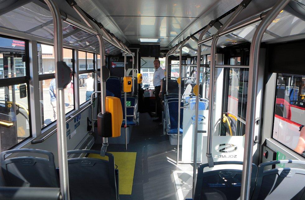 Autobus olomouckého dopravního podniku.