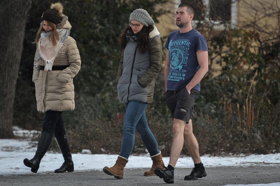 Mrazivé počasí v Ostravě (-9°C) 26. února 2018 v Ostravě.