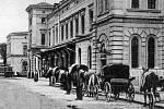 Budova olomouckého nádraží před 1. světovou válkou