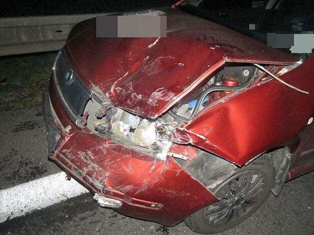 Havárie tří aut na D35 u Křelova