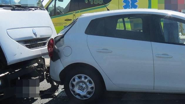 Nehoda ve Velkomoravské ulici v Olomouci, 12. 9. 2019