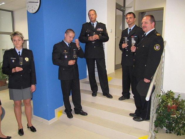 Policejní recepce ve Smetanově ulici v Olomouci