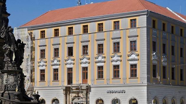 Rekonstruovaný Salmův palác v Olomouci