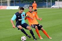Fotbalisté Sigmy B (v oranžovém) vs. Orlová