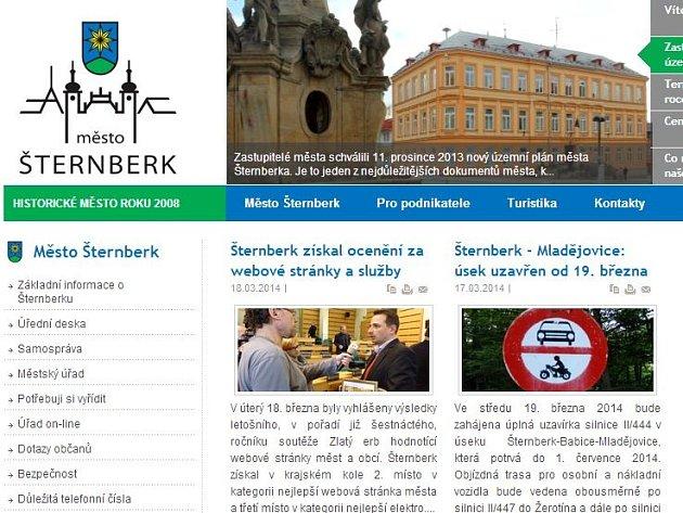 Web Šternberka
