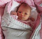 Ema Macháčková, Dubicko, narozena 23. února, míra 50 cm, váha 3170 g