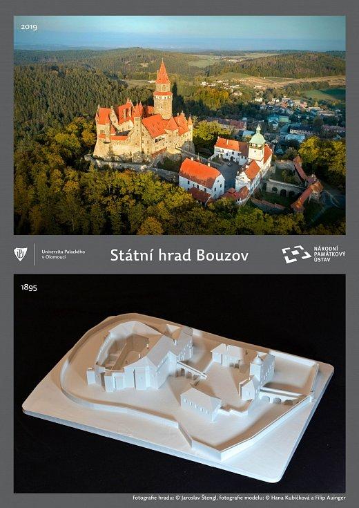 Hrad Bouzov, tak jak vypadal před sto lety, vytiskli na Univerzitě Palackého. Samozřejmě jeho maketu, která teď bude k vidění přímo na Bouzově.
