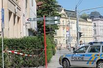 Policisté prohledávájí všechny budovy Komerční banky v Olomouci, kvůli nahlášené bombě