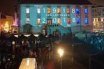 Českoslovenští hrdinové 1918-2018 | audiovizuální a světelné divadelní představení na budově olomoucké radnice