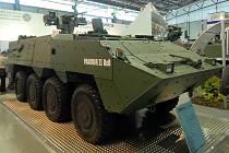 Obrněný transportér Pandur II 8x8 na výstavě IDET v Brně.