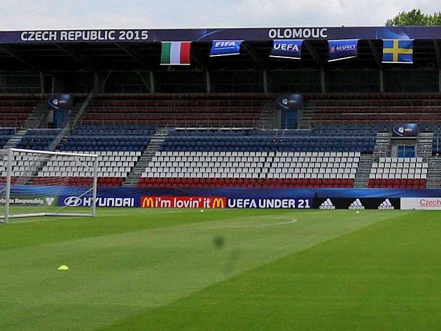 Euro U21 na Andrově stadionu v Olomouci. Ilustrační foto
