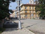 Most přes Mlýnský potok v Komenského ulici v Olomouci
