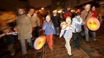 Lampionový průvod v Olomouci