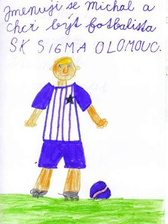 Michal Mackovík, 8 let, chce být fotbalistou Sigma Olomouc