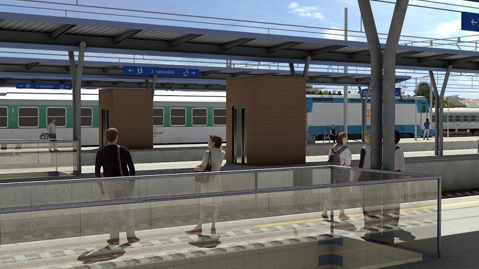 Vizualizace přestavby Železniční stanice Olomouc