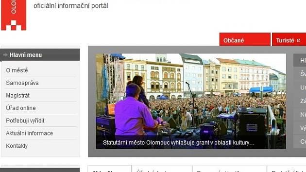 Oficiální web města Olomouc