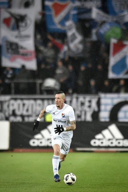 Utkání 19. kola první fotbalové ligy: Baník Ostrava - Sigma Olomouc, 14. prosince 2018 v Ostravě. Na snímku (zleva) Jiří Fleišman.