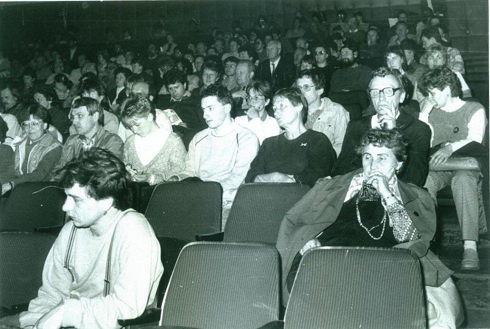 Sál kina Pohraniční stráž v 80. letech