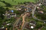 Břevenec, místní část Šumvaldu, postižená bleskovou povodní. 8. června 2020