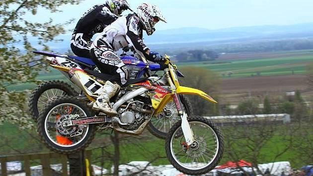 Závod motokrosového mistrovství Moravy v Dlouhé Loučce