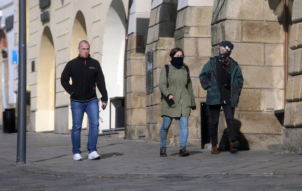 Horní náměstí v Olomouci, 16. března 2020