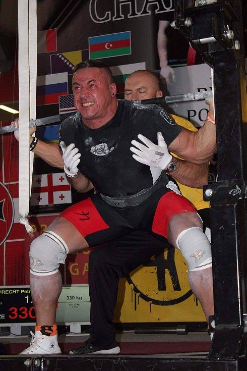 Olomoučtí siloví sportovci zápolili na mistrovství světa v silovém trojboji federace WUAP v Praze. Petr Folprecht