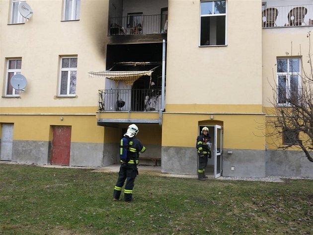 Požár v Šantově ulici v Olomouci