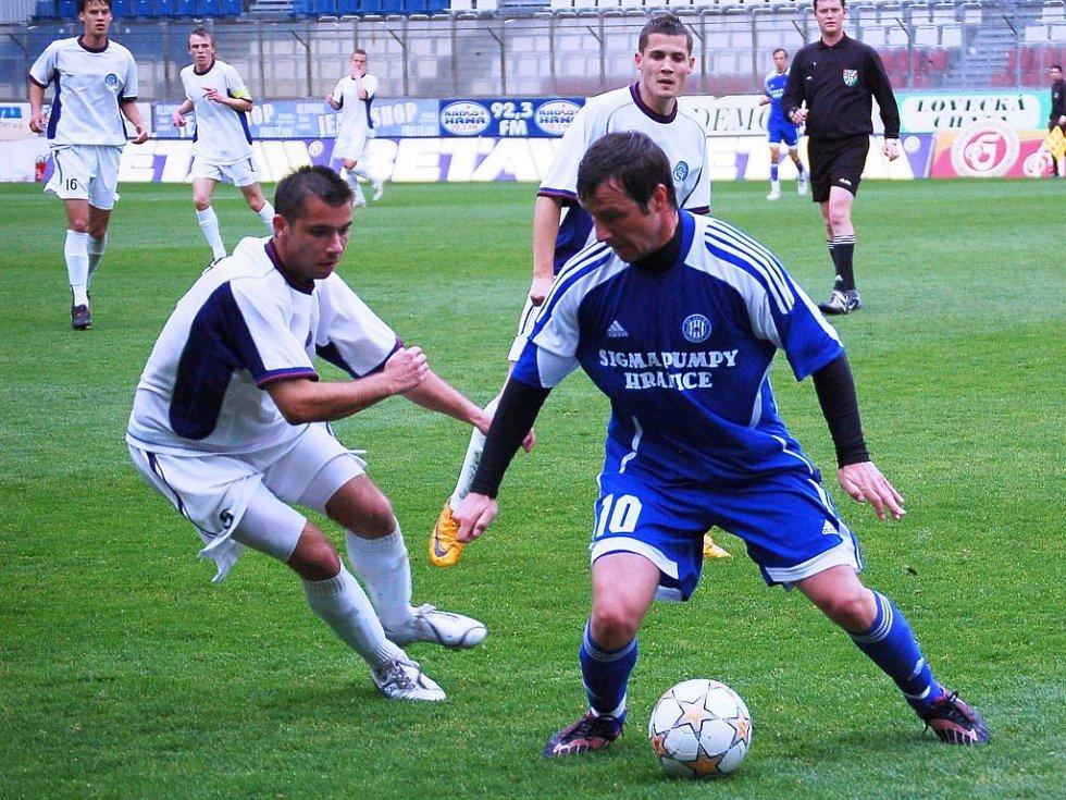 David Kobylík u míče