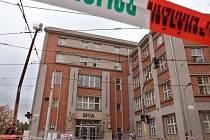 Odstraňování následků pádu zdiva u polikliniky SPEA