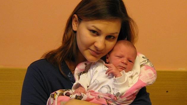 Tereza Tulianová, narozená 25.12.2007 v Olomouci, váha: 2890 g, míra: 51 cm, Týneček.