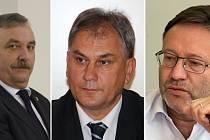 Náměstci Dalibor Horák (ODS), Jan Zahradníček (ANO) a Jiří Zemánek (ČSSD)