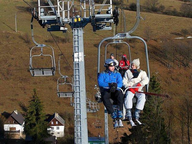 Ski areál v Branné