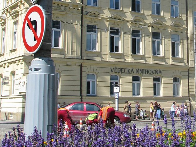 Budova Vědecké knihovny v Olomouci na třídě Svbobody