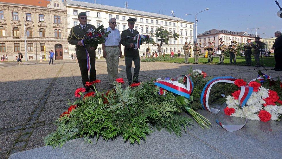14. září 2016. Pieta k výročí úmrtí T.G. Masaryka na Žižkově náměstí v Olomouci