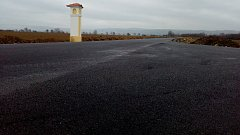 Nový asfalt na silnici mezi štěpánovskou částí Benátky a Štarnovem