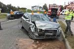 Dopravní nehoda v obci Vranovice-Kelčice.