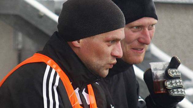 Adam Varadi (vlevo) a gólman Martin Blaha