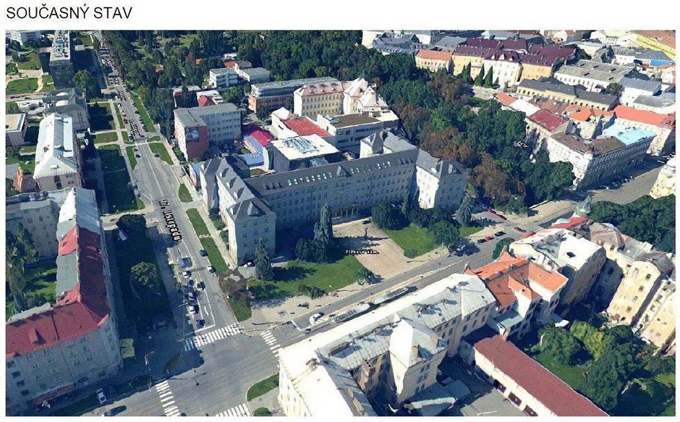Žižkovo náměstí v Olomouci - současný stav