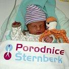 Šimon Holubec, Olomouc, narozen 23. dubna ve Šternberku, míra 48 cm, váha 2750 g