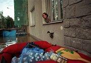 Olomouc, Dobrovského ul., 9. července 1997 večer